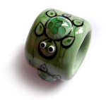 Turtle dread bead